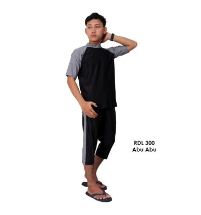 Baju Renang Pria Rizqy RDL 300 Abu