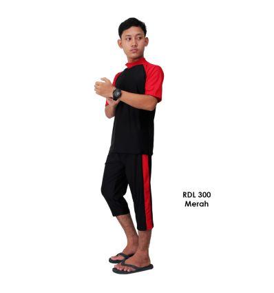 Baju Renang Pria Rizqy RDL 300 Merah