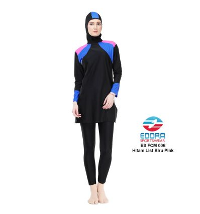 Baju Renang Muslimah Edora ES FCM 006 Biru Pink