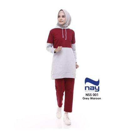 Baju Senam Nay Muslimah NSS 001 Maroon