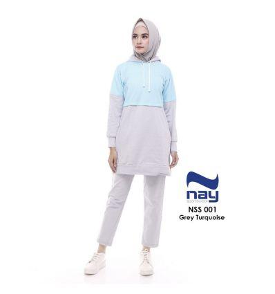 Baju Senam Nay Muslimah NSS 001 Turquoise