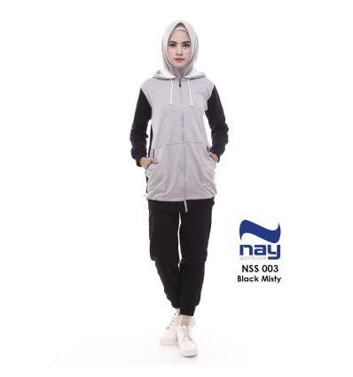Baju Senam Nay Muslimah NSS 003 Black Misty