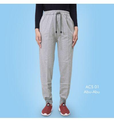 Celana senam wanita ACS 01 Abu