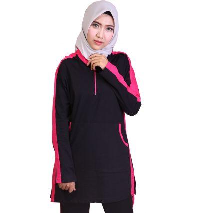 Baju Senam Wanita Muslimah Rocella black