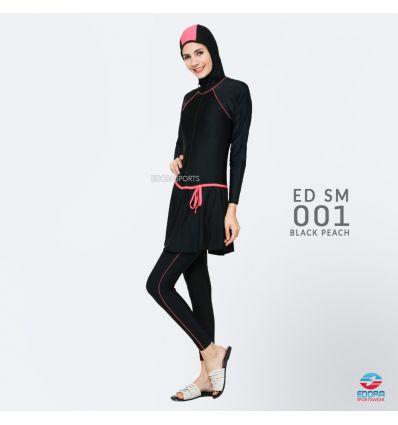 Baju Renang Muslimah Edora ED SM 001 Black Peach