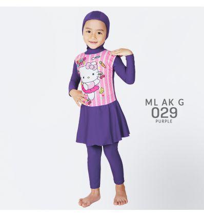 Baju Renang Anak TK Deedo ML AK G 029 ungu