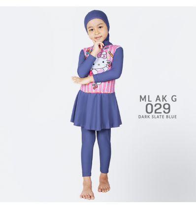Baju Renang Anak TK Deedo ML AK G 029 Dark Slate Blue