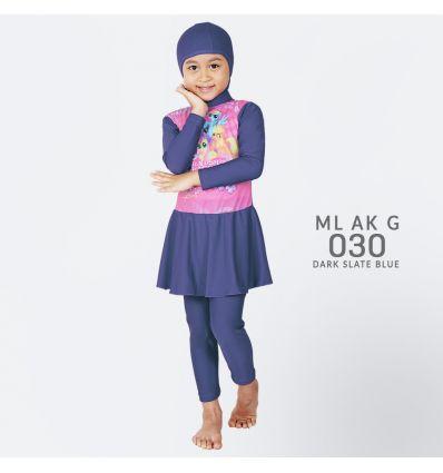 Baju Renang Anak TK Deedo ML AK G 030 Dark Slate Blue