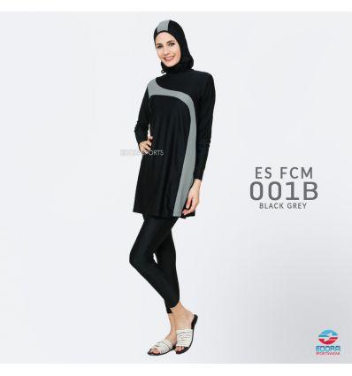 Baju Renang Muslimah Edora ES FCM 001 B Black Grey
