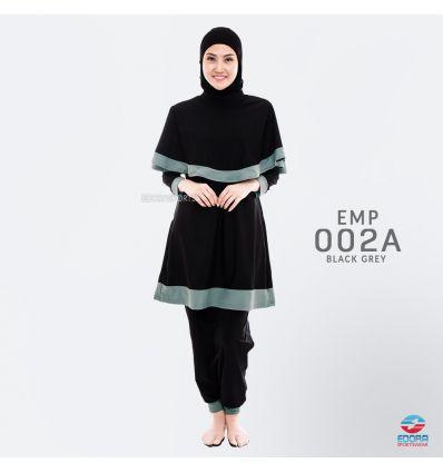 Baju Renang Muslimah Edora EMP 002 A Black Grey