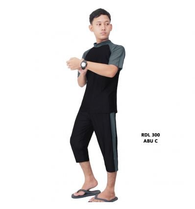 Baju Renang Pria Rizqy RDL 300 Abu C
