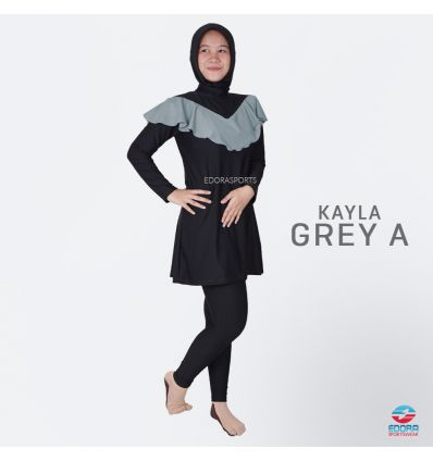 Baju Renang muslimah Edora Kayla Grey A