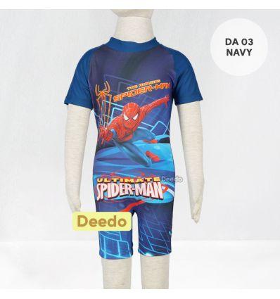 Baju Renang Anak TK Deedo DA 03 Navy Spiderman