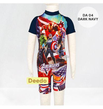 Baju Renang Anak TK Deedo DA 04 Dark Navy Avenger's