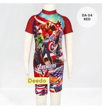 Baju Renang Anak TK Deedo DA 04 Red Avenger's
