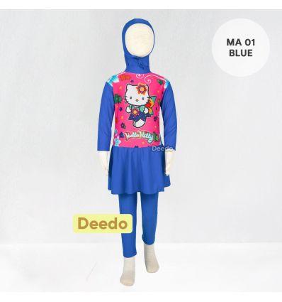 Baju Renang Anak TK Deedo MA 01 Blue Hello Kitty
