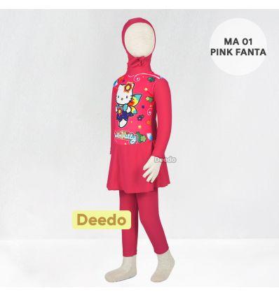 Baju Renang Anak TK Deedo MA 01 Pink Fanta Hello Kitty