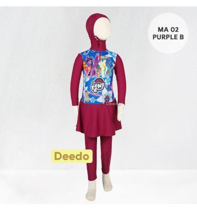 Baju Renang Anak TK Deedo MA 02 Purple B Little Pony