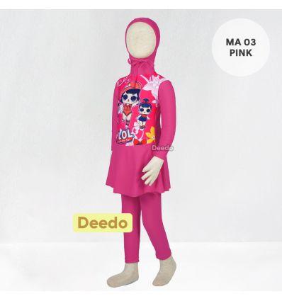 Baju Renang Anak TK Deedo MA 03 Pink LOL