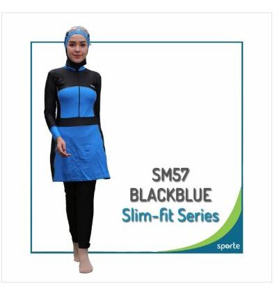Baju Renang Muslimah Sporte SM 57 Black Blue
