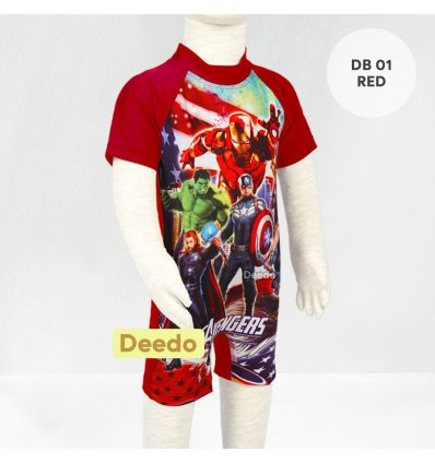 Baju Renang Bayi Deedo DB 01 Red AVENGER'S