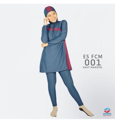 Baju Renang Muslimah Edora ES FCM 001 Navy Maroon
