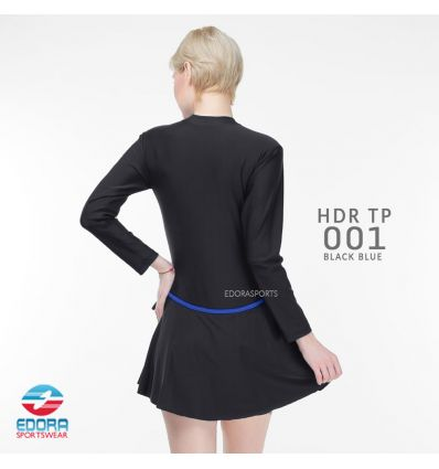 Baju Renang Wanita Edora Semi Cover HDR TP 001 Black Blue