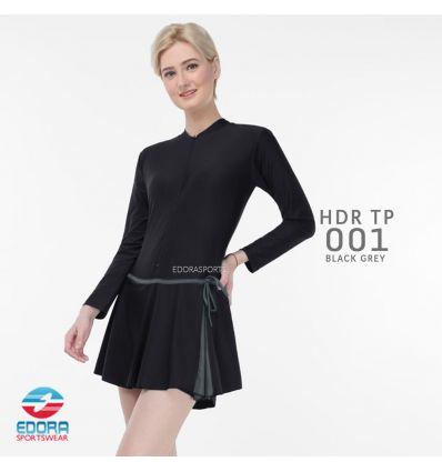 Baju Renang Wanita Edora Semi Cover HDR TP 001 Black Grey