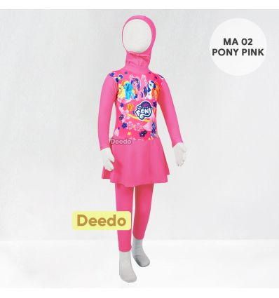 Baju Renang Anak TK Deedo MA 02 Pink Little Pony