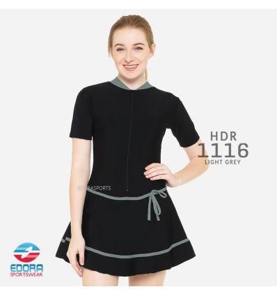 Baju Renang Wanita Edora Semi Cover HDR 1116 Light Grey
