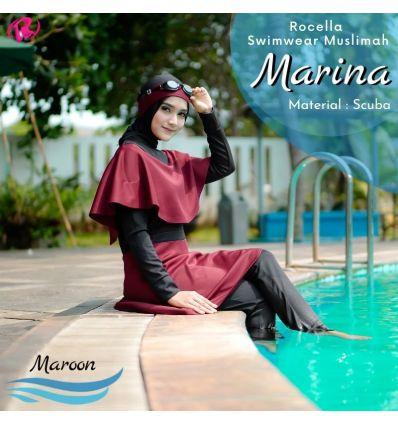 Rocella Swimwear Marina Maroon