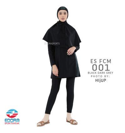 Baju Renang Muslimah Edora ES FCM 001 Black Dark Grey