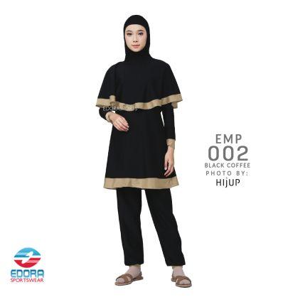 Baju Renang Muslimah Edora EMP 002 Black Coffee