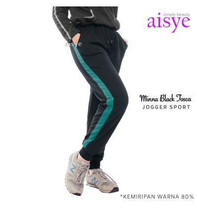 Aisye - Minna Black Tosca Jogger Sport