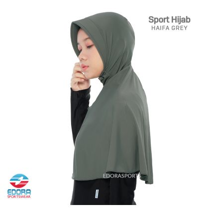 Sport Hijab - Haifa Grey