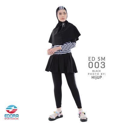 Baju Renang Muslimah Edora ED SM 003 BLACK