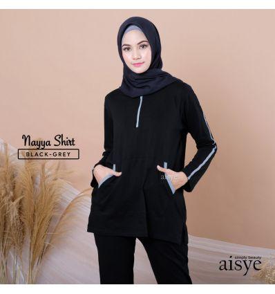 Aiye - Nayya Shirt Black Grey