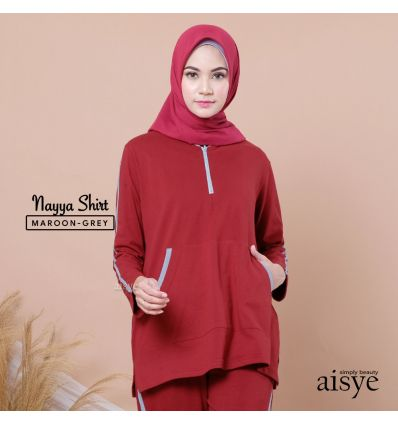 Aiye - Nayya Shirt Maroon grey