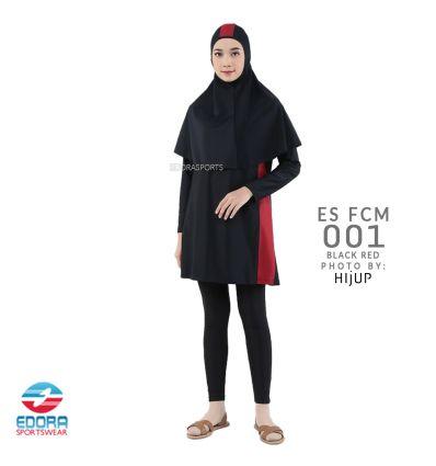 Baju Renang Muslimah Edora ES FCM 001 Black Red