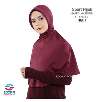 Sport Hijab - Haifa Maroon