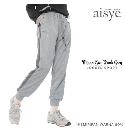 Aisye - Minna Grey Dark Grey Jogger Sport