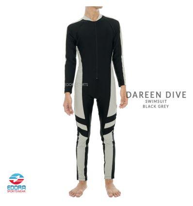 Edorasports - Dareen Dive Swimsuit Black Grey