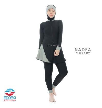 Baju Renang Muslimah Edora NADEA Black Grey