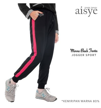 Aisye - Minna Black Fanta Jogger Sport