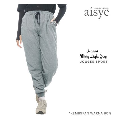 Aisye - Hanna Misty Light Grey Jogger Sport