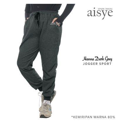 Aisye - Hanna Dark Grey Jogger Sport