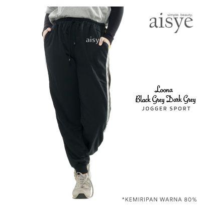 Aisye - Loona Black Grey Jogger Sport