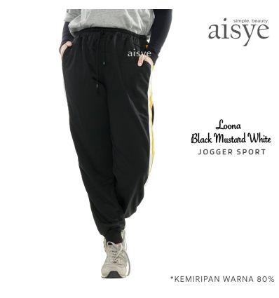 Aisye - Loona Black Mustard Jogger Sport