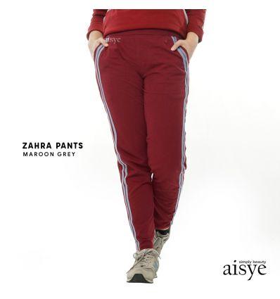 Aisye - ZahraPants Maroon Grey