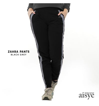 Aisye - Zahra Pants Black Grey